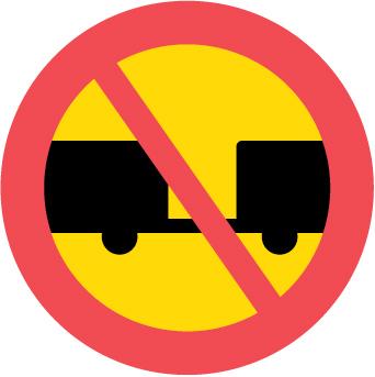 du bogserar en annan bil. vilket vägmärke får du inte passera?