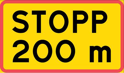 stopp 200m