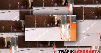 Får jag köra på en heldragen linje när jag skall passera en buss vid en busshållplats?