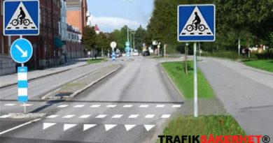Cykelöverfarter och cykelpassager