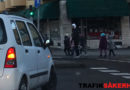 Är bilens förare skyldig att lämna företräde för cyklist som kommer bakifrån vid högersväng?